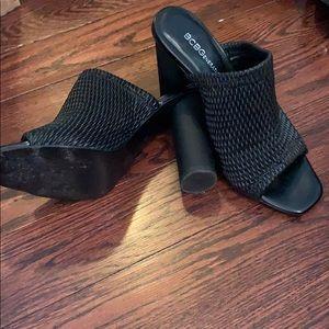 Slip on high heel sandals